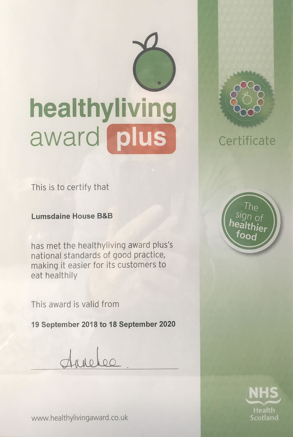 Healthy Living Accreditation